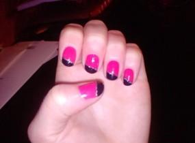 ap nail art bicolore